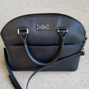 kate spade Bags - Kate spade black leather bag.